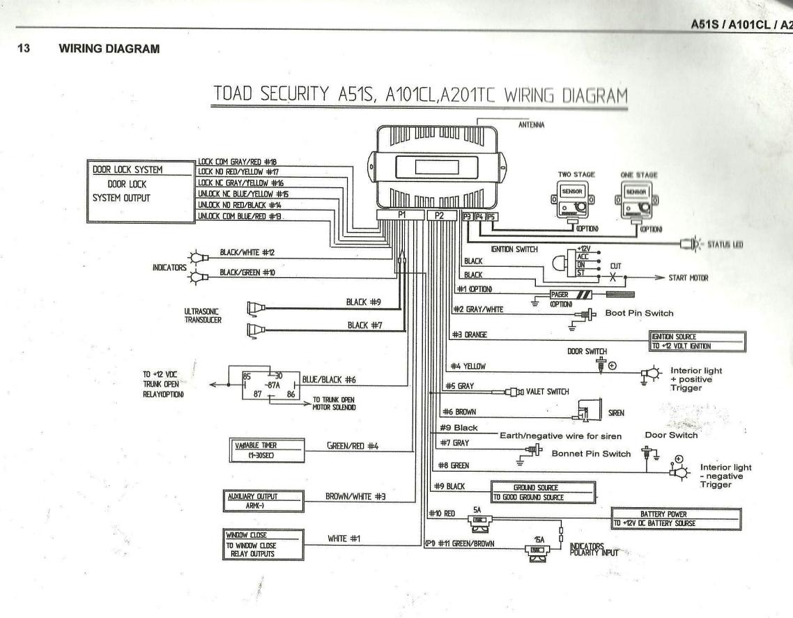 interior light connection to alarm